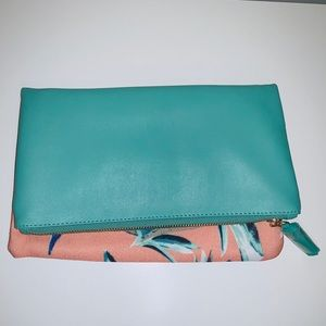 Teal Reversible Clutch